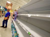 کرونا فروشگاههای انگلیس را خالی کرد