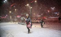 بارش برف و یخبندان در کرج+تصاویر