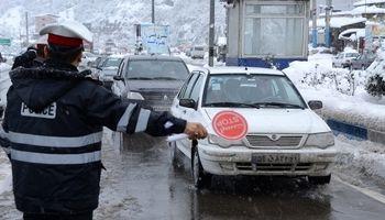 بارش برف در ارتفاعات هراز و فیروزکوه