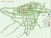 وضعیت ترافیک شهر تهران +نقشه