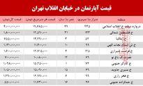 آپارتمان در خیابان انقلاب تهران چند؟ +جدول
