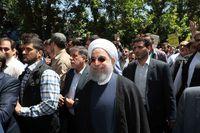 حضور رییسجمهور و چهرههای سیاسی در راهپیمایی روز قدس +تصاویر
