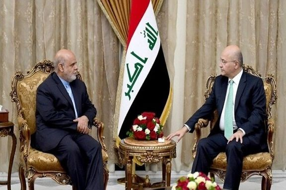 دیدار سفیر ایران در بغداد با رئیسجمهور عراق