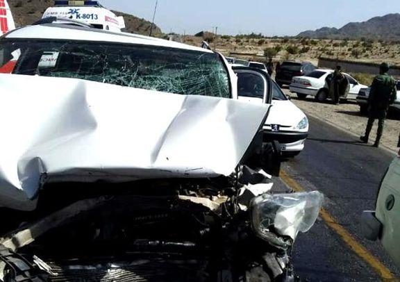 سانحه رانندگی در جیرفت 1کشته و ۲زخمی برجا گذاشت