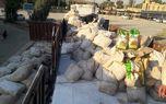 کشف ۷تن برنج قاچاق از داخل محموله کربنات کلسیم