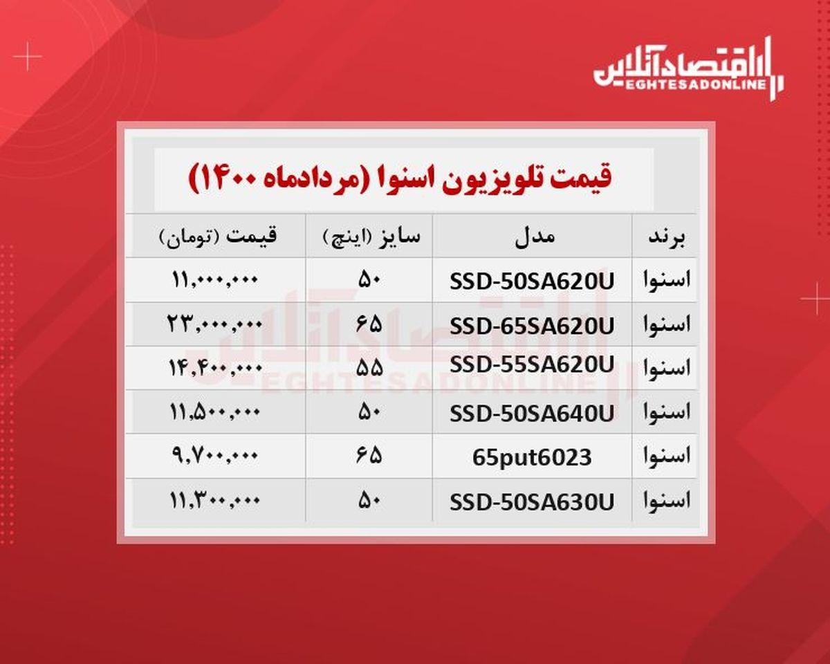 قیمت جدید تلویزیون اسنوا / ۲۸مردادماه