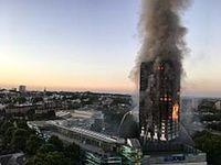 آتش سوزی برج ۲۱ طبقه در تهران