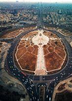 نمایی شگفتانگیز از برج و میدان آزادی +عکس