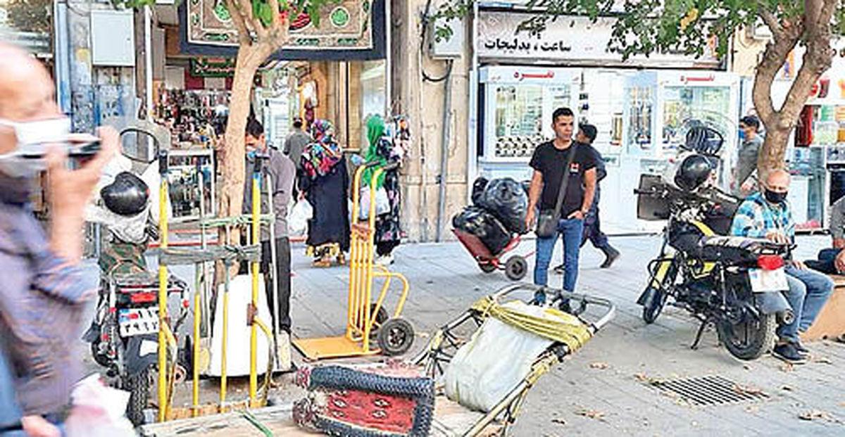 بار سنگین رکود و گرانی بر دوش باربران بازار