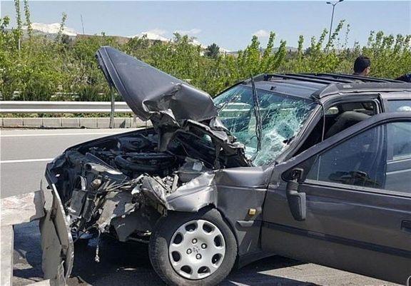 تصادف خودروی سواری 8مصدوم بر جای گذاشت