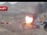 لحظه انفجار کپسولهای گاز در پردیس +فیلم