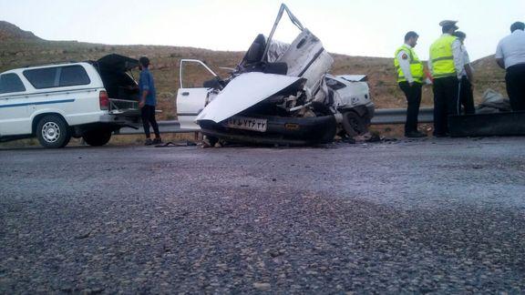 5 کشته در تصادف پیکان و پراید!