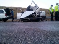 یک کشته و ۳مجروح در تصادف جادهای