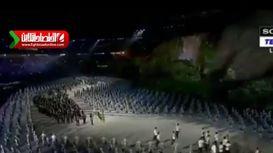 لحظه رژه کاروان ایران در افتتاحیه بازیهای آسیایی +فیلم