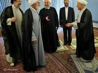 رییسجمهور در کنار آیتالله هاشمی و ناطق نوری +عکس