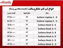 قیمت روز لپتاپ مایکروسافت در بازار +جدول