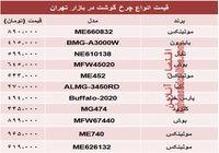 قیمت انواع چرخ گوشت در بازار چند؟ +جدول
