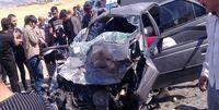 سقوط پژو 405 به دره در مشکینشهر