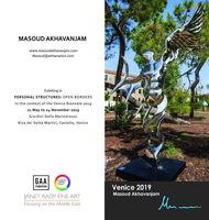 مسعود اخوان جم با دو مجسمه در بینال ونیز