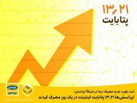 ایرانسلیها ۱۳.۲۱پتابایت اینترنت در یک روز مصرف کردند