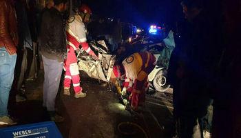 تصادف زنجیرهای با یک کشته و ۳مجروح