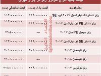 قیمت جدید انواع خودرو رنو در بازار تهران +جدول