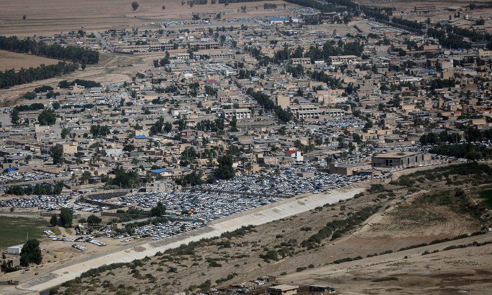تصاویر هوایی از مرز های مهران و چزابه