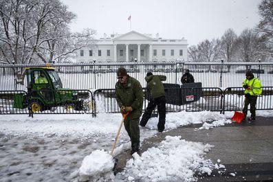 برف و کولاک به آمریکا هم رسید