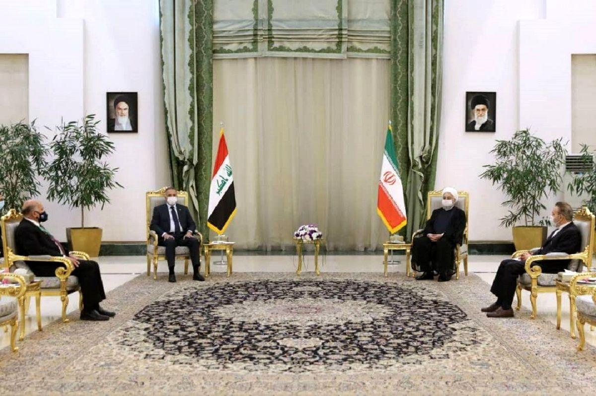 نشست خصوصی روحانی و نخست وزیر عراق +عکس