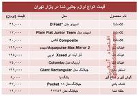 قیمت انواع لوازم جانبی شنا در بازار تهران؟ +جدول