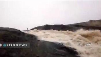 طغیان رودخانههای استان مرکزی +فیلم