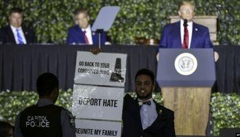تنش در سخنرانی ترامپ در ویرجینیا