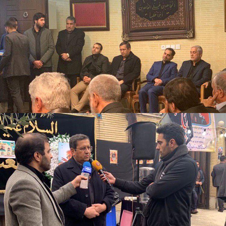 حضور رئیسکل بانک مرکزی در منزل سردار شهید سلیمانی