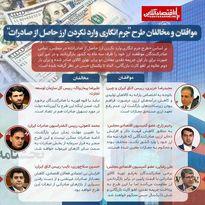 واکنشها به طرح «جرم انگاری وارد نکردن ارز حاصل از صادرات»