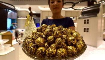 عرضه شکلات با طعم طلا در دوبی +عکس
