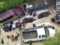 کشف بیش از ۱۰۰۰ اسلحه از یک خانه! +تصاویر