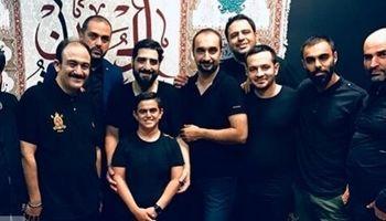 مهران غفوریان و امیر نوری در هیات مداح معروف +عکس