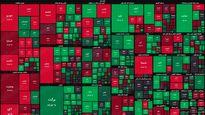 نقشه بورس امروز بر اساس ارزش معاملات/ نمادهای سبز دیروز قرمزهای امروز شدند