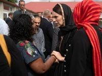حضور نخستوزیر نیوزیلند در مراسم بزرگداشت قربانیان حمله تروریستی +فیلم