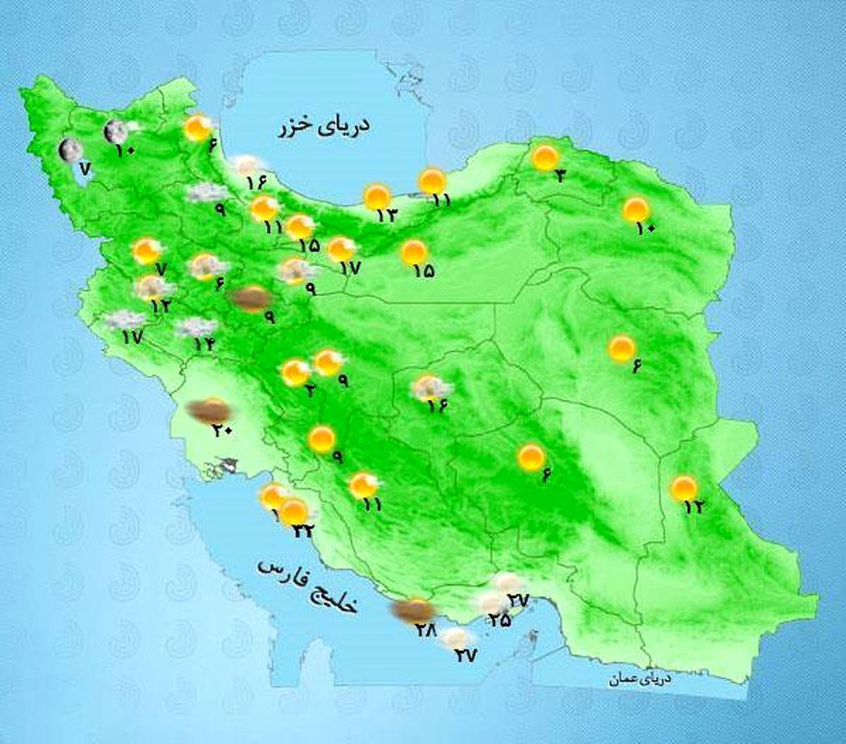 ورود سامانه بارشی جدید از غرب و شمال غرب کشور از فردا