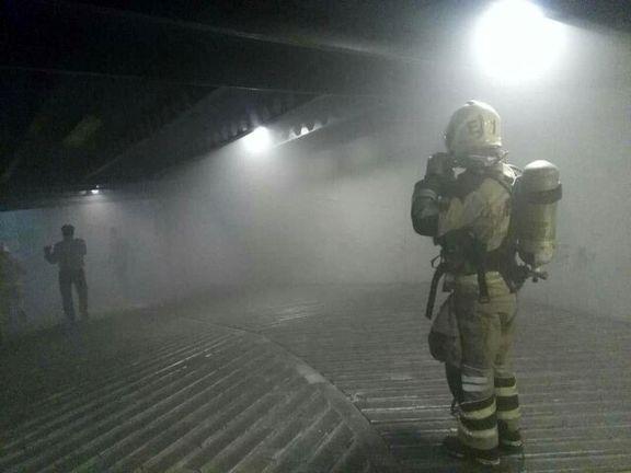 آتش سوزی در ساختمان ۵طبقه
