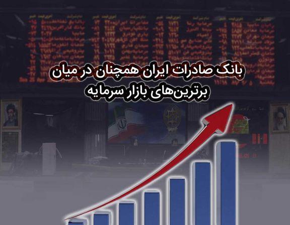 بانک صادرات ایران همچنان در میان برترینهای بازار سرمایه