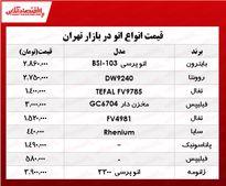 انواع اتو در بازار تهران چند؟ +جدول