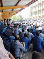 تحصن کارگران شرکت ایران ترانسفو ادامه دارد +عکس