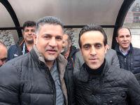 تصویری قدیمی از کریم باقری و علی دایی