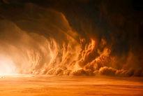 طوفان آخرالزمانی در پایتخت عربستان! + فیلم