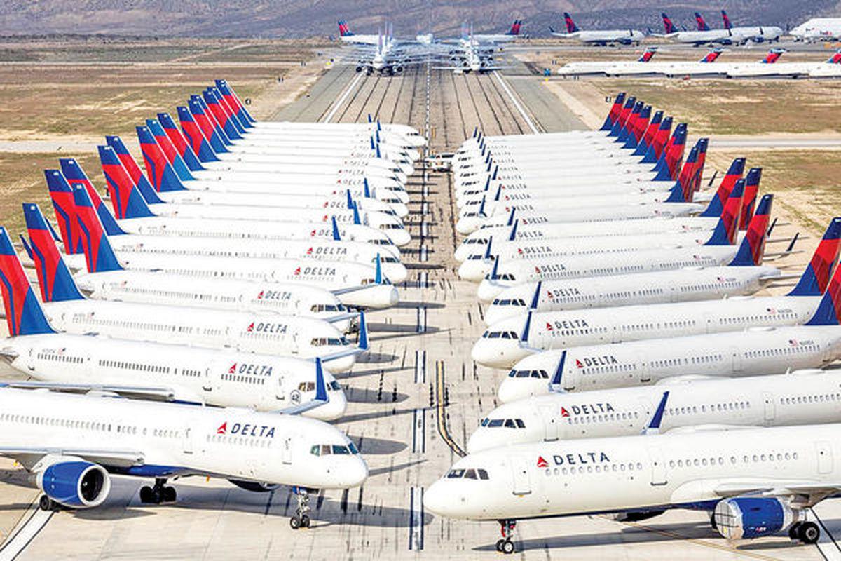 خواب هواپیماها در آشیانه «کرونا» چند ماه طول میکشد؟