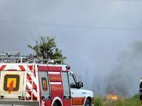 آتش سوزی طبیعت حاشیه شهر اراک +تصاویر