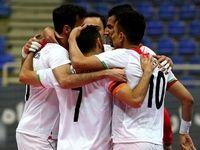 پیروزی پر گل تیم ملی فوتسال ایران مقابل بلاروس