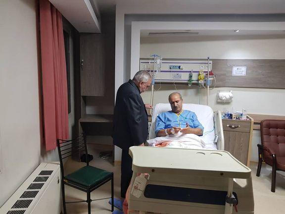 عیادت فتح الله زاده از رئیس فدراسیون فوتبال +عکس